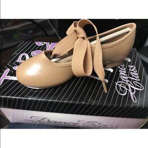 Other - 12.5 Caramel Mary Jane Tie Tap DanceShoes NIB